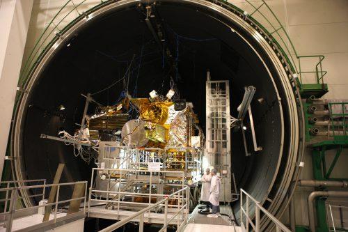 EUTELSAT 9B under construction