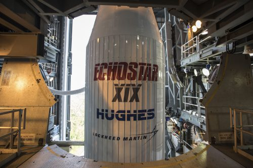 EchoStar XIX on Atlas 5 rocket ready for launch