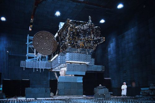 EchoStar XiX satellite test