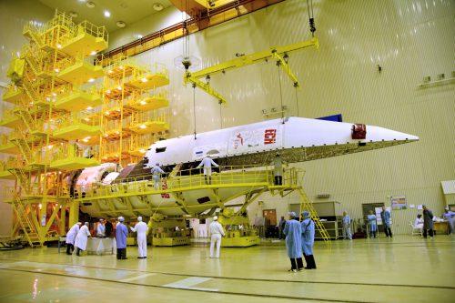 EchoStar satellite encapsulated at ILS