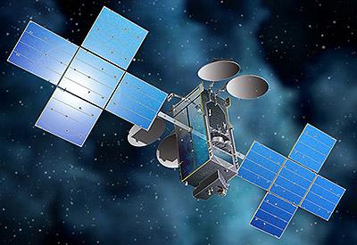 Echostar-18 satellite in orbit