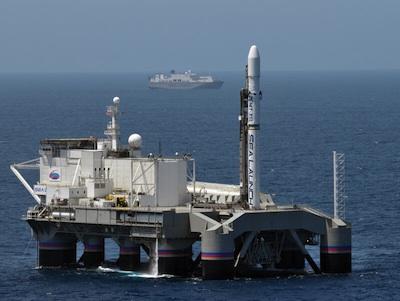Intelsat-21 on launch Seal Launch Odyssey platform