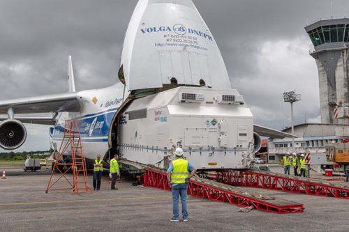 Eutelsat 7C arrives at Kourou Spaceport