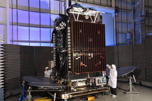HYLAS 4 satellite under construction