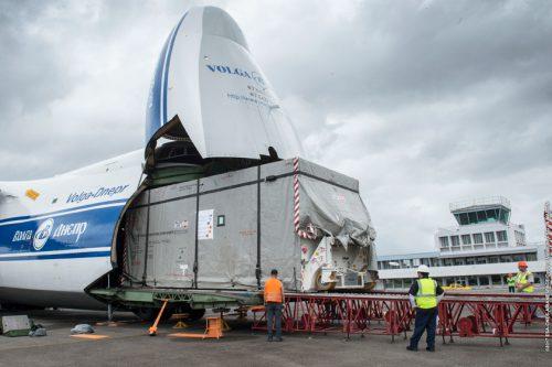Hotbird satellite transport