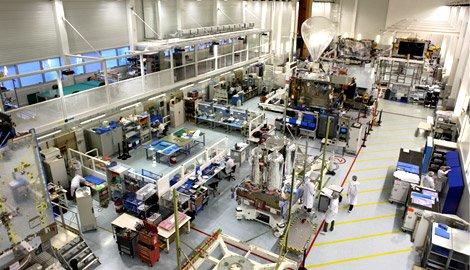 Hotbird satellites under construction at EADS Astrium