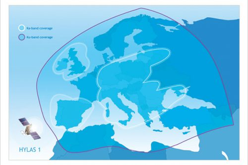 Hylas-1 coverage map