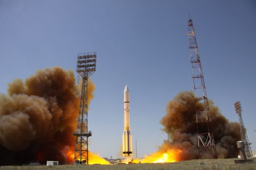 ILS Proton-M lifting off AMOS 5