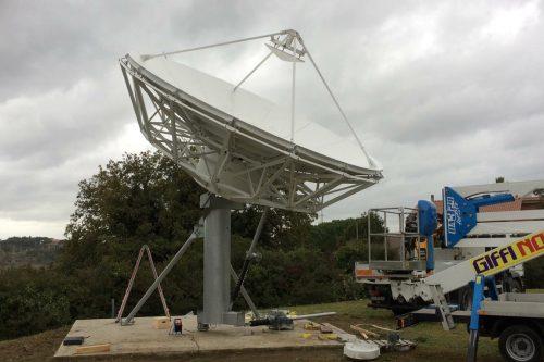 VertexRSI 6.1m antenna installed in Rome, Italy