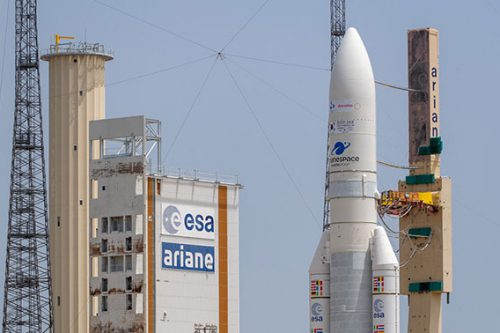 Viasat-2 on top of Ariane 5 ready for launch