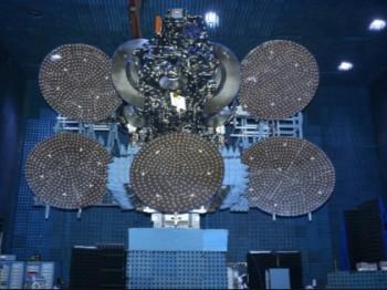 JCSAT-14 satellite under construction