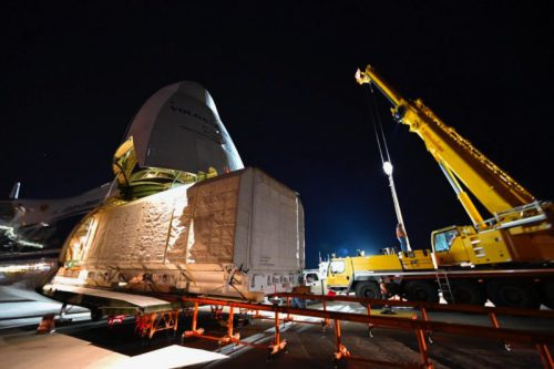 JCSAT-17 satellite transport