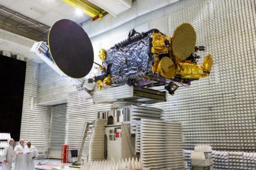 KoreaSat-7 satellite in anachoic chamber