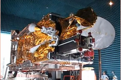 KazSat-2 satellite under construction