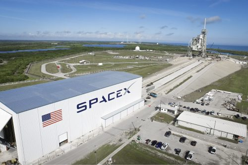 SpaceX Launch Pad 39A at Kennedy Space Center in Florida