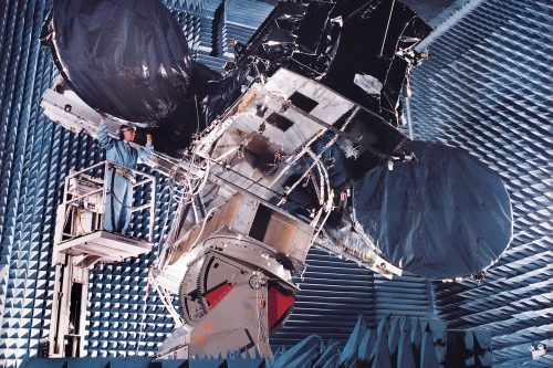 Astra 1KR under test in Anechoic chamber