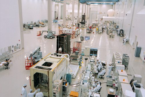 Lockheed Martin A2100 in clean room.
