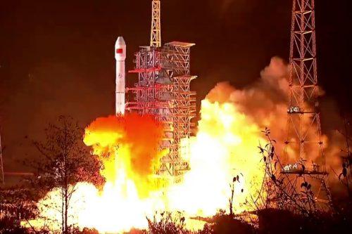 Long March 3B rocket launching ChinaSat-19