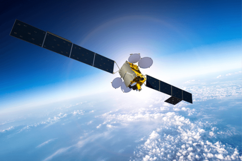 MEASAT-3 satellite in orbit
