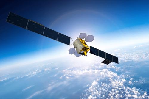 MEASAT-3b satellite in orbit