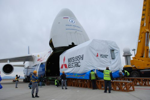 MELCO Satellite arrives at Arianespace