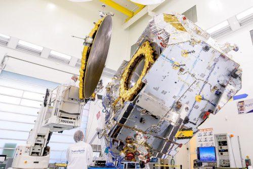 NSS-6 satellite under construction