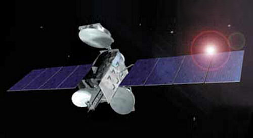 NSS-5 satellite in orbit