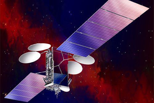 NSS-7 satellite in orbit
