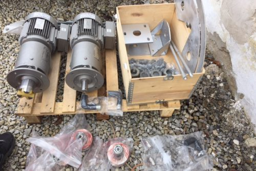 New motors/reductors & HW kits for Earth Station Antennas