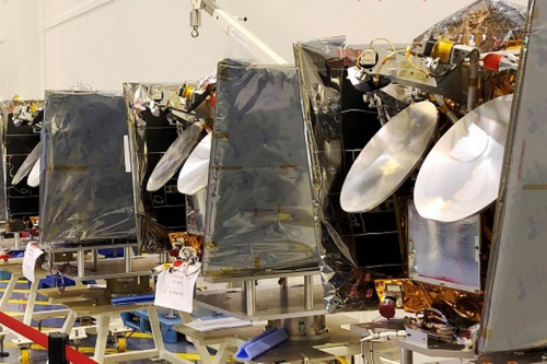 OneWeb satellite in cleanroom at Airbus