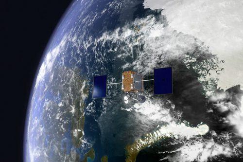 OneWeb satellite orbiting Earth