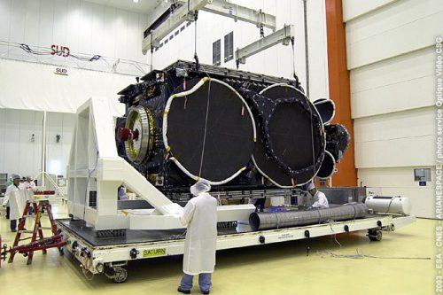 Optus C1 satellite prepared for launch