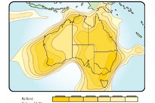 Optus D1 Australia Footprints Ku-band (dBK)