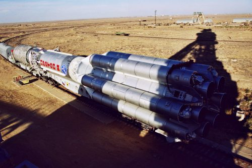 Proton M rocket with Viasat-1 moved to launch site