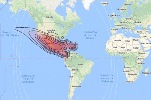 QuetzSat-1 satellite footprints