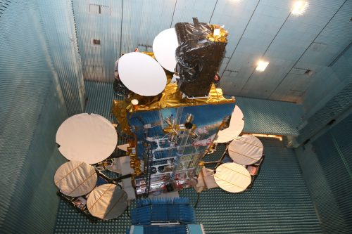 SES-12 in anechoic chamber for test