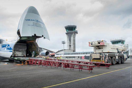 SES-15 arrives at Kourou launch site