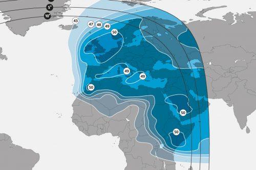 SES-4 Europe & Middle-East Ku-band beam M