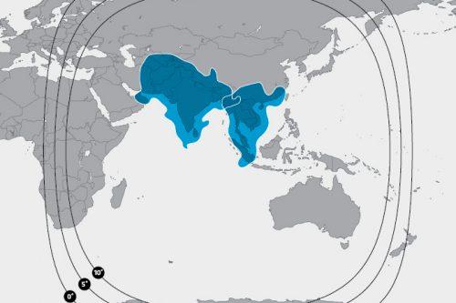SES-8 coverage Ku-band Beam M