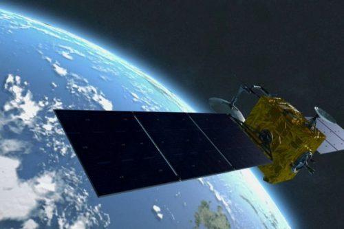SES-8 satellite in orbit