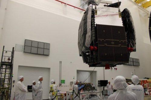 SES-8 satellite under construction
