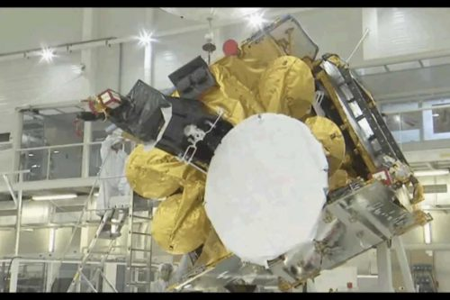 SES Astra 2E satellite under test