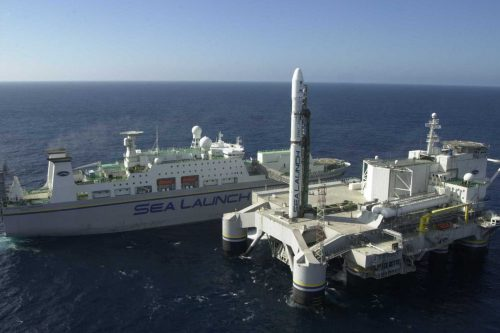 Sea Launch Floating Platform Odyssey and Commander Ship