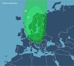 Sirius 4 satellite footprint