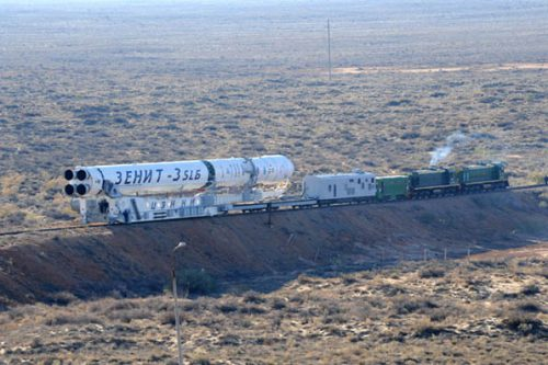 Zenit-3SLB on train to launch site