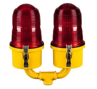 Aircraft Warning Lights (AWL) for Earth Station Antennas
