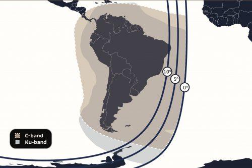 Anik F1 C- & Ku-band South America beams