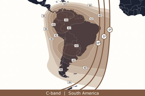 Anik F1 C-band South America beam