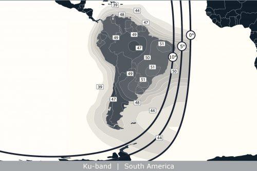Anik F1 Ku-band South America beam