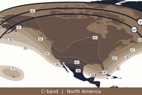 Anik F1R C-band North America beam